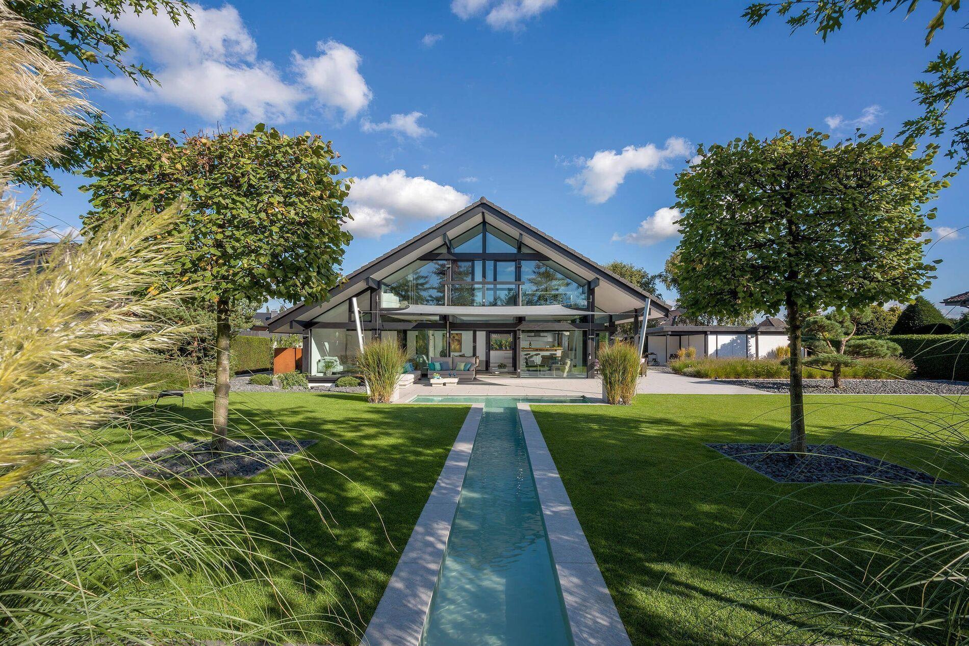 Huf Haus Hartenfels moderne fachwerkhäuser aus holz und glas - das original