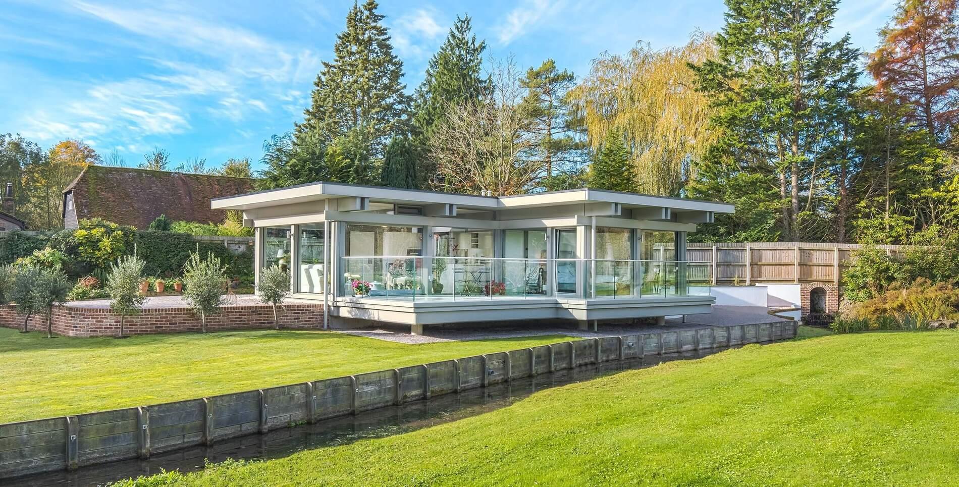 Flachdach Bauprojekt 5 Huf Haus
