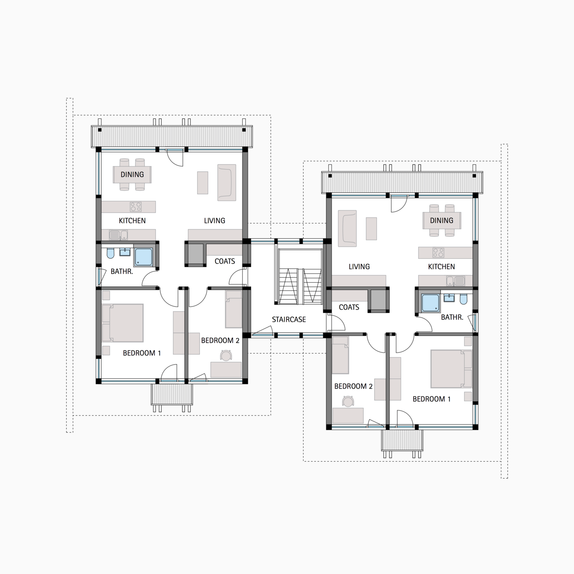 HUF house floor plan first floor Multifamily house